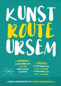 Poster Kunstroute Ursem 2016
